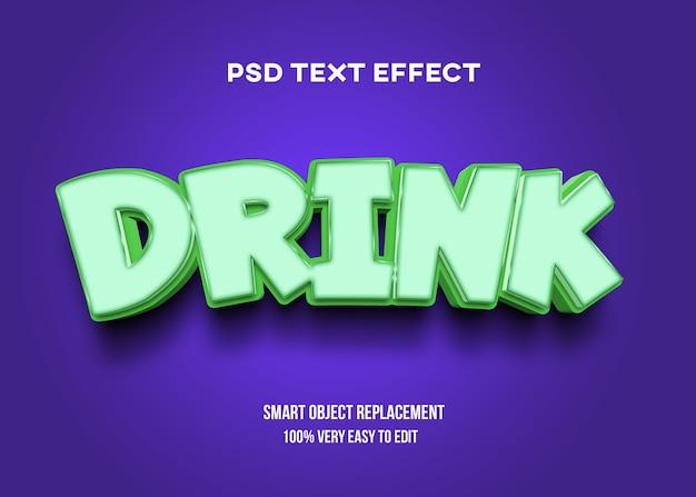 Trinken sie pastell-texteffektschablone