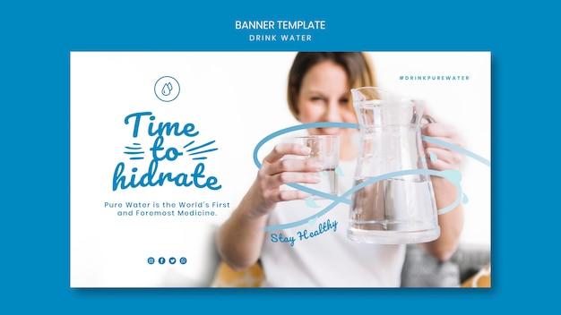 Trinkwasserkonzept-bannerschablone