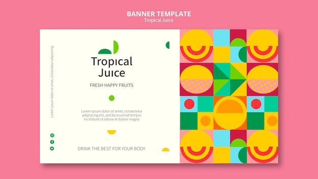 Tropische saft banner vorlage