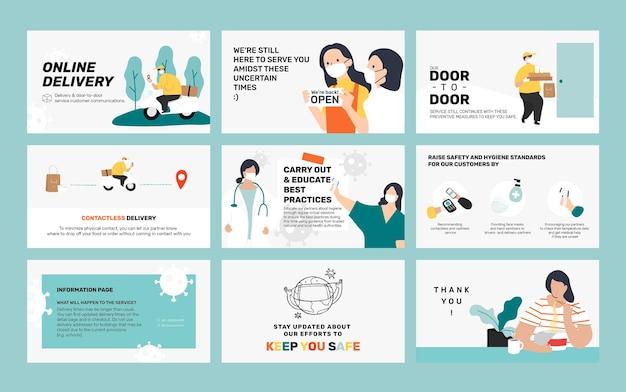 Tür-zu-tür-lieferung nach hause psd social-media-beitrag