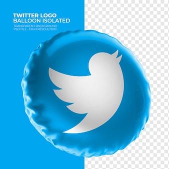 Twitter logo 3d ballon