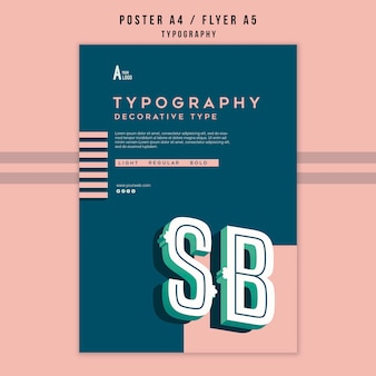 Typografie-poster-vorlage