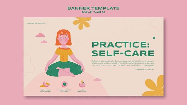 Üben sie die self-care-banner-vorlage