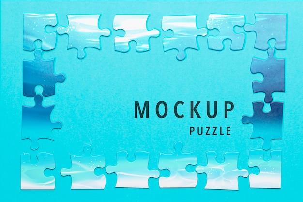 Über ansichtanordnung mit puzzlestückmodell