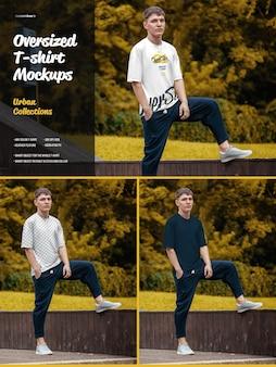 Übergroße t-shirt-modelle