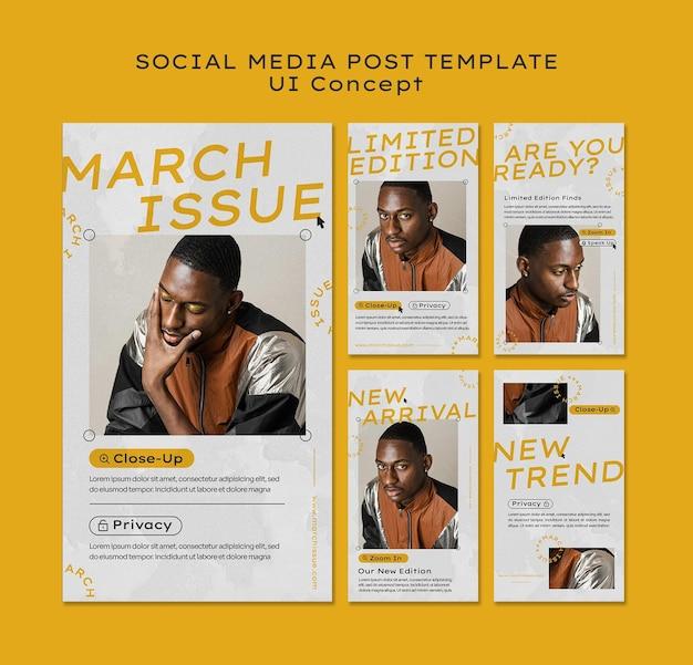 Ui konzept social media post vorlage