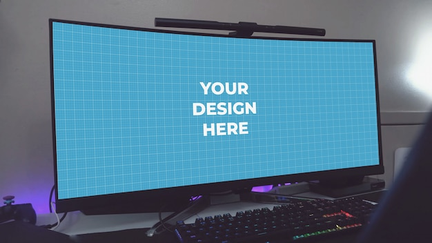 Ultrawide leerer monitor