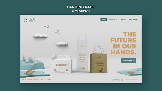 Umgebungs-landingpage