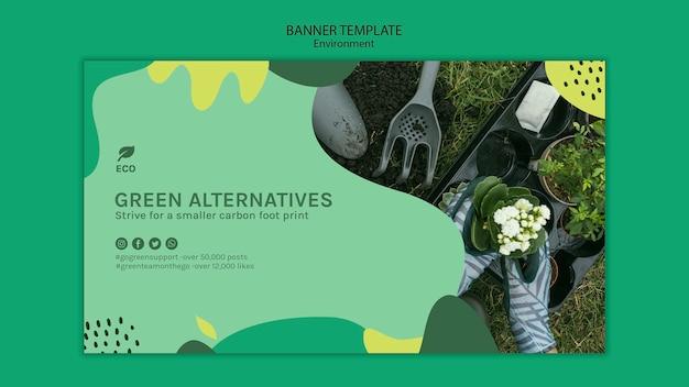 Umgebungskonzept-banner-vorlage