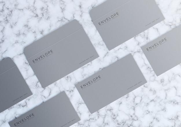 Umschlag mockup design vorderseite