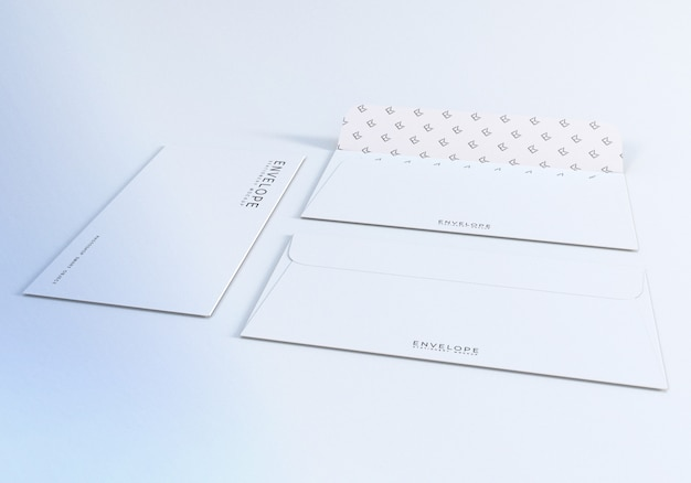 Umschlagmodell für vorder- und rückseite