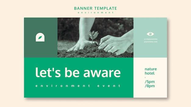 Umwelt banner vorlage konzept vorlage