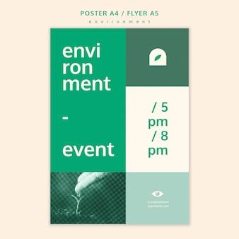 Umwelt flyer konzept vorlage