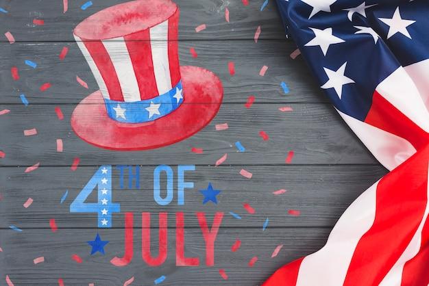 Unabhängigkeitstag in den vereinigten staaten von amerika. 4. juli
