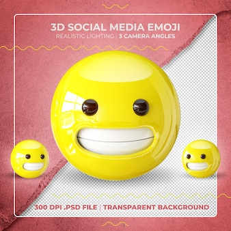 Unbeholfenes 3d-emoji isoliert