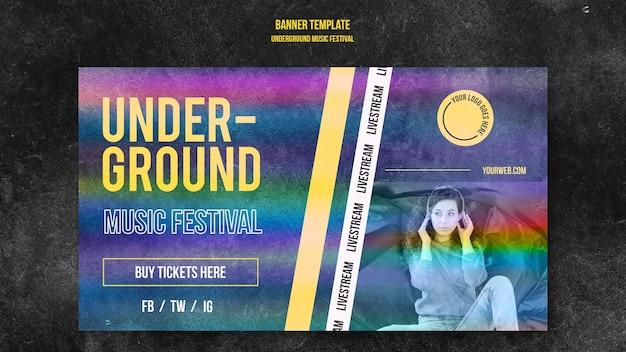 Underground musik festival banner