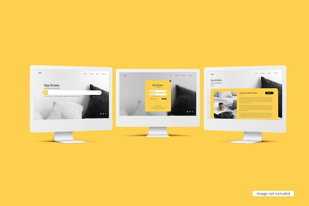Unicolor desktop-bildschirmmodell