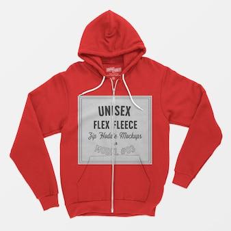 Unisex flex fleece zip hoodie modell 03