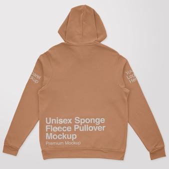 Unisex schwamm fleece rücken pullover mockup