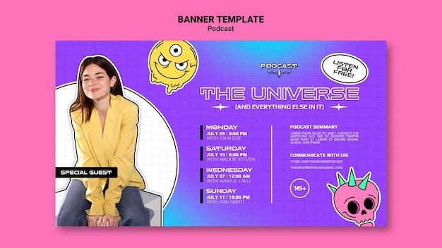 Universe podcast-banner-vorlage