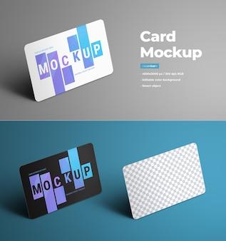 Universelle modelle zur präsentation von geschenk- und bankkarten