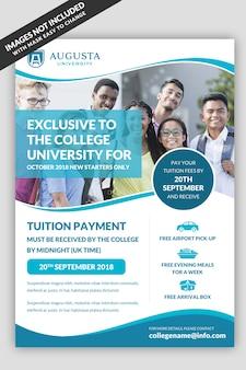 Universität flyer vorlage