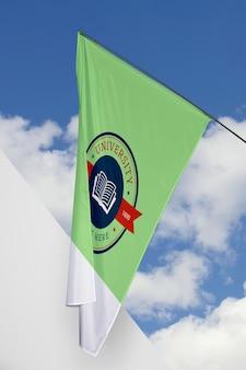 Universitätsflaggenkonzeptmodell