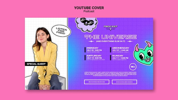 Universum podcasts youtube-cover