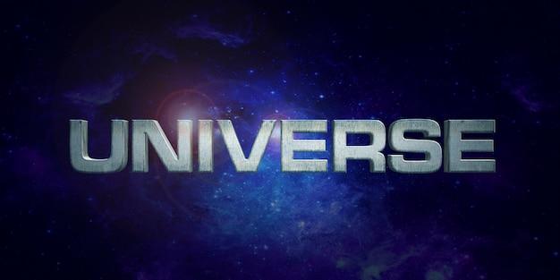 Universum-textstil-effekt