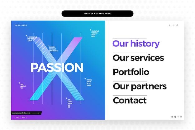 Unsere passion website vorlage