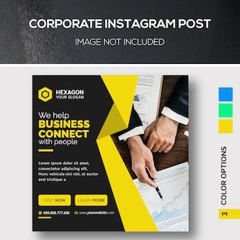 Unternehmens instagram post