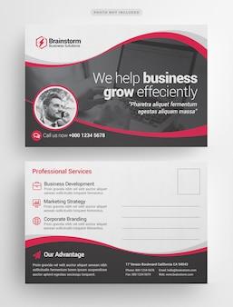 Unternehmens postkarte vorlage