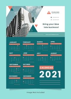 Unternehmens- und geschäftswandkalendervorlage