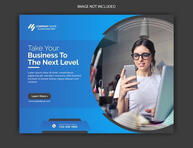 Unternehmensförderung und kreative web-banner-vorlage