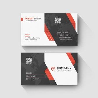 Unternehmensvisitenkarte-design mit linie muster