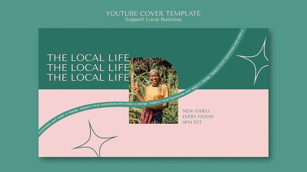 Unterstützen sie das youtube-cover für lokale unternehmen