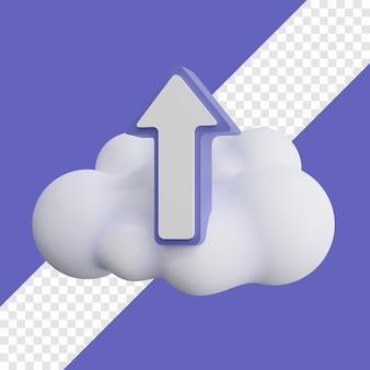 Upload-symbol mit cloud-3d-darstellung