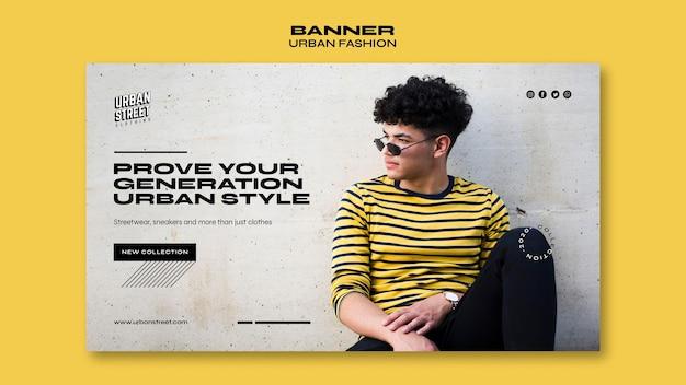 Urban fashion banner vorlage