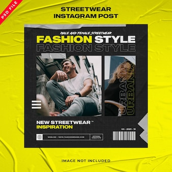 Urban fashion social media instagram vorlage