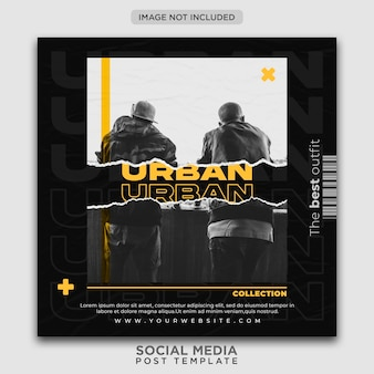 Urban fashion social media post vorlage