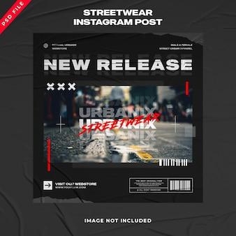 Urban fashion streetwear banner instagram post vorlage
