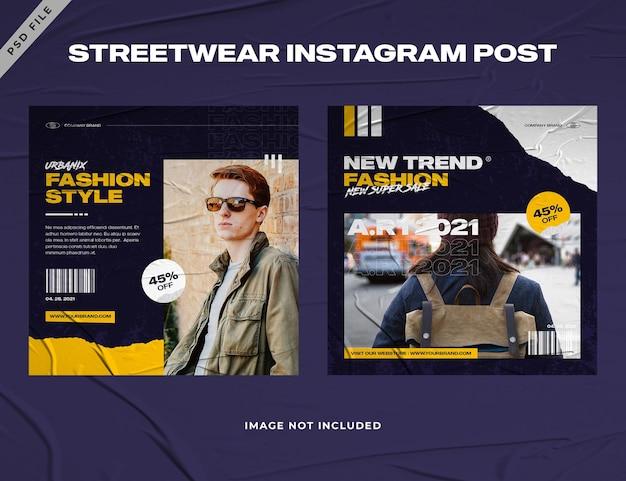 Urban fashion streetwear instagram postvorlage