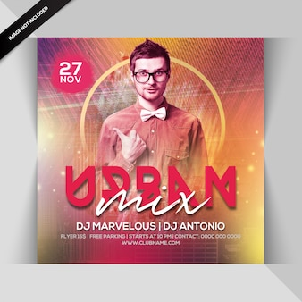 Urban mix night flyer