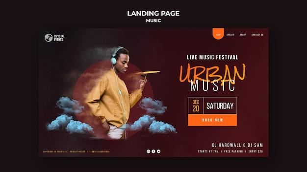 Urban music landing page