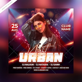 Urban night party flyer vorlage