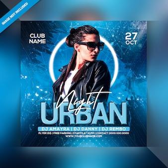 Urban night party flyer