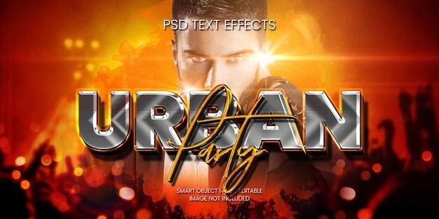 Urban party texteffekt