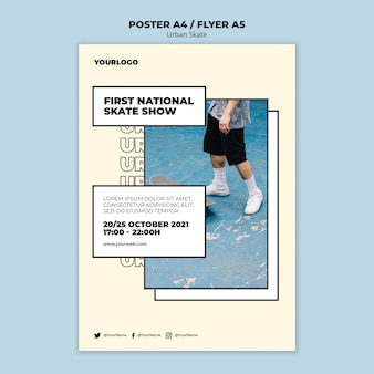 Urban skate konzept poster vorlage