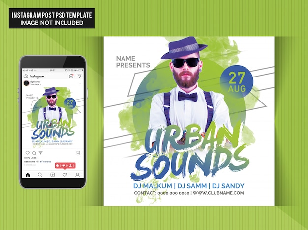 Urban sounds party-flyer