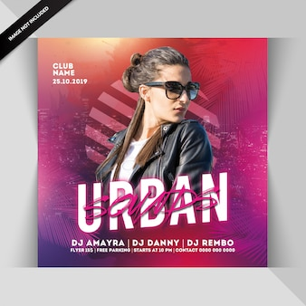Urban sounds partyflyer